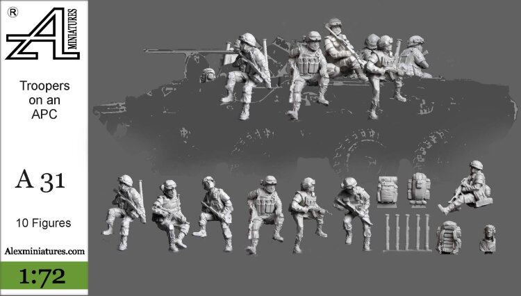 Set A31 Troopers on an APC